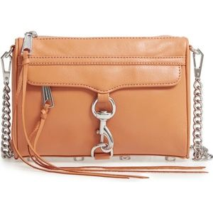NWT Rebecca Minkoff Mini Mac Crossbody - Honey